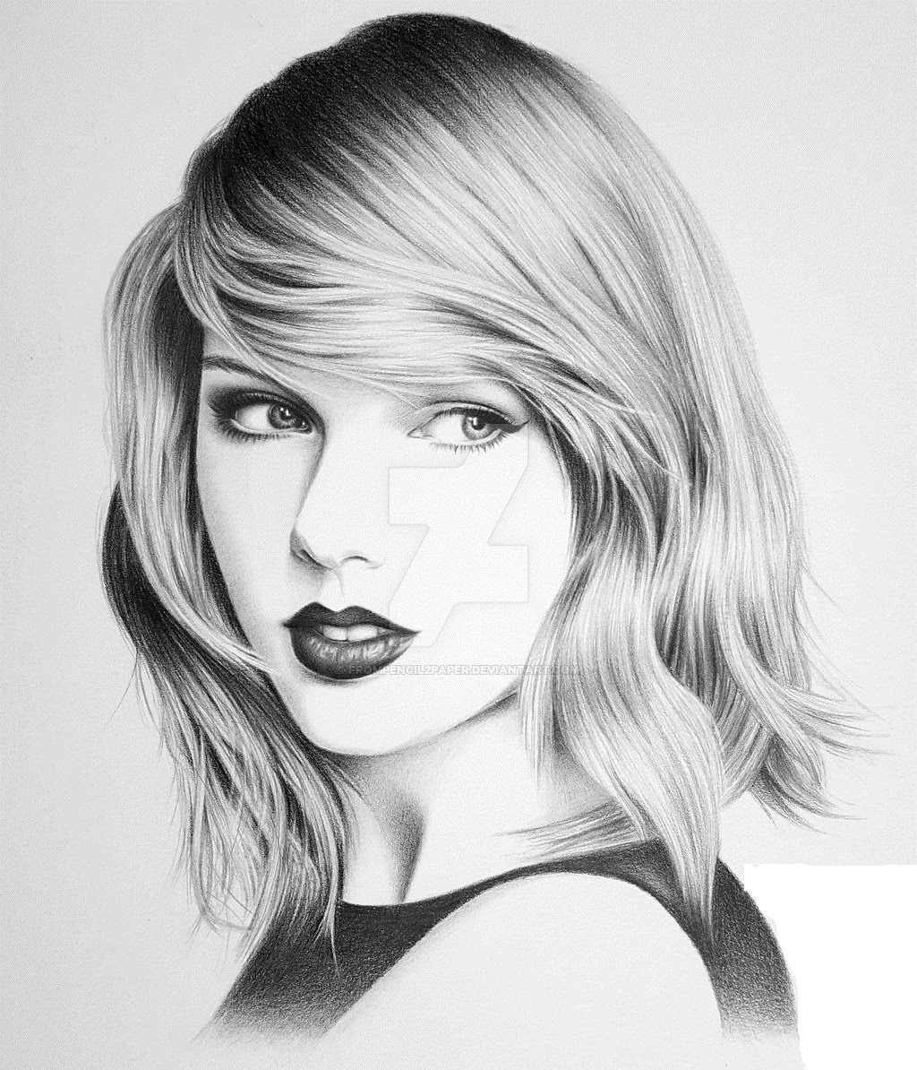 Drawn portrait taylor swift Drawing Swift Bir Dakikada Pencil