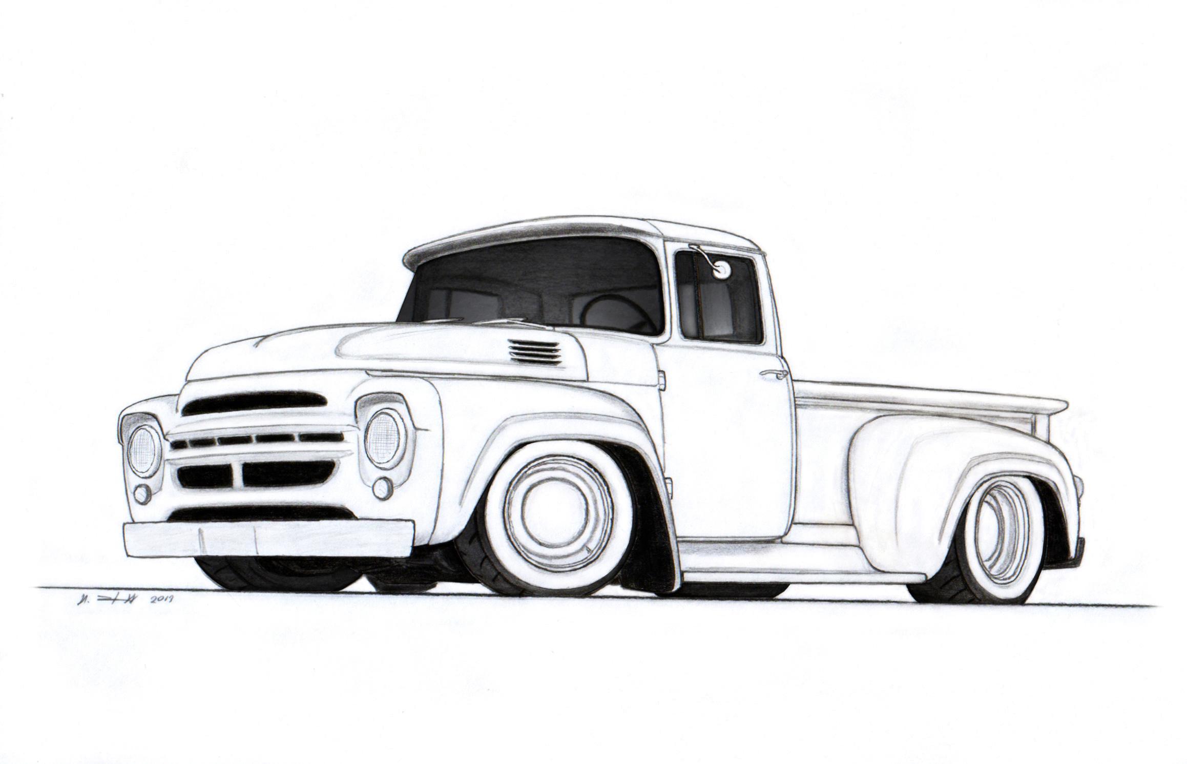 Drawn truck chevy Drawing drawing art vintage vertualissimo