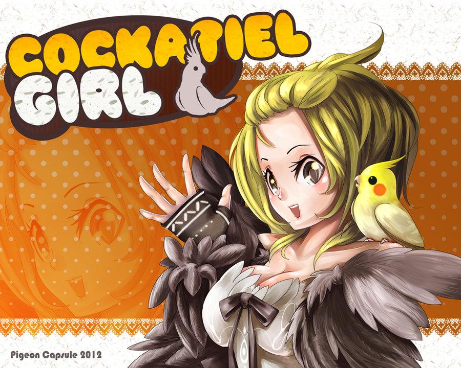 Drawn pigeon anime Girl girl Capsule by Cockatiel