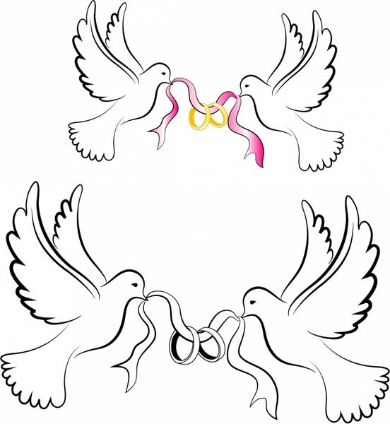 Mourning Dove clipart wedding symbol Dove free Doves Rings commercial