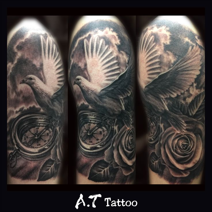 Drawn pidgeons rose Tattoo#pigeons 25+ tattoo Pigeon Pinterest