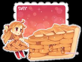Drawn pie chibi By Chibi Apple DAV 19
