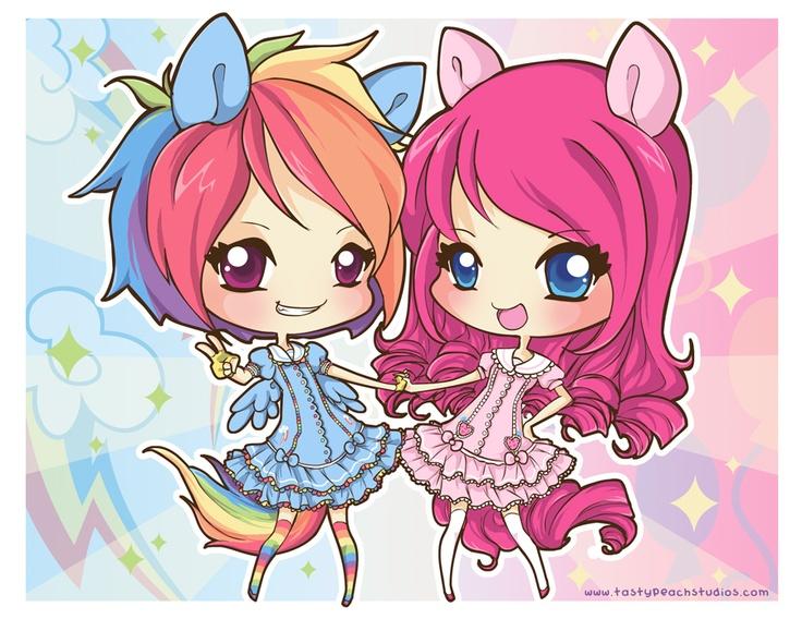 Drawn pie chibi And in Pinkie Pie Rainbow