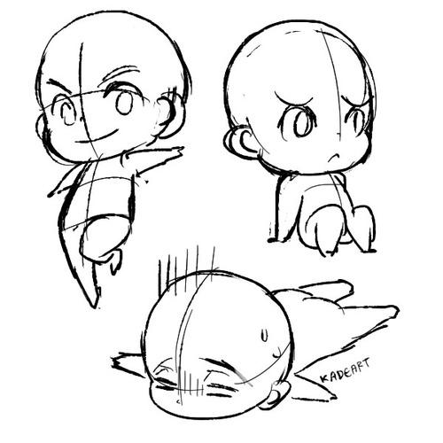 Drawn pie chibi Draw Google Szukaj chibi bodies