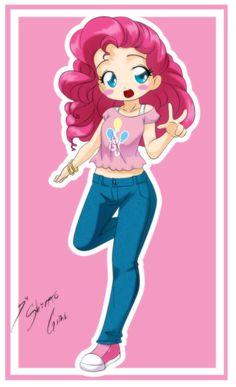 Drawn pie chibi Pie this!!! Girl by Shinta