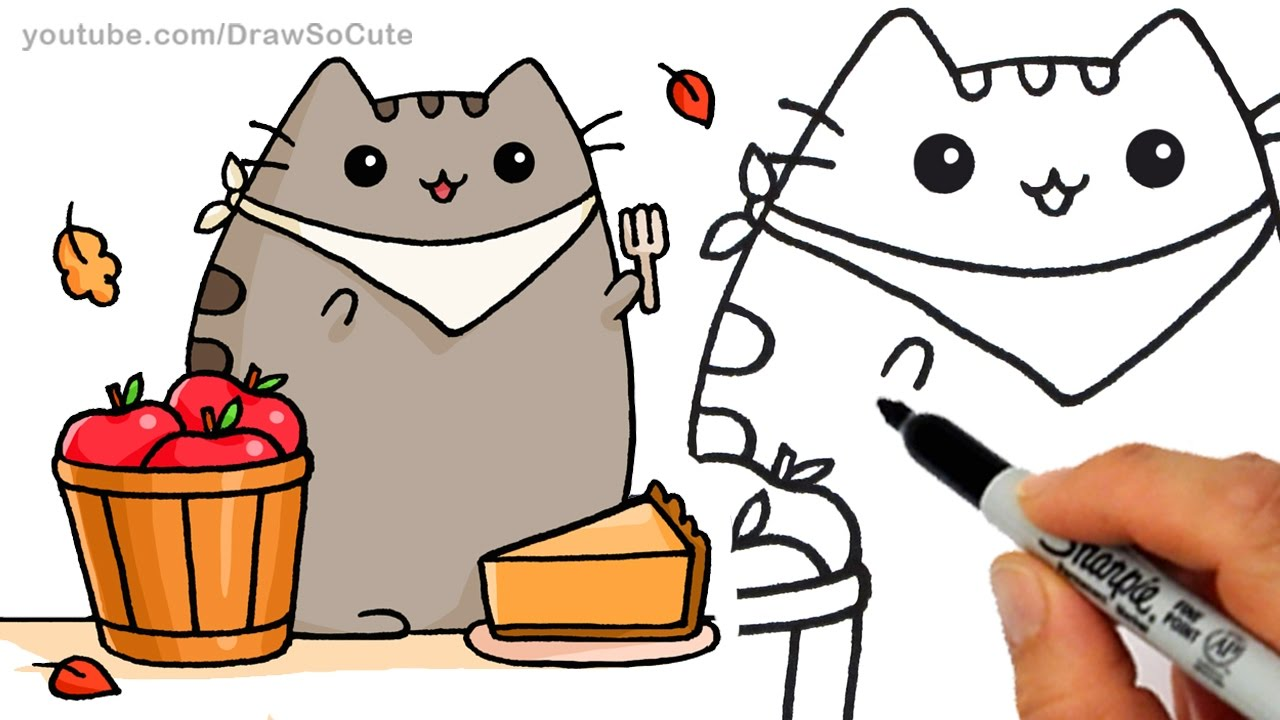Drawn pie By by Pusheen Fall Draw