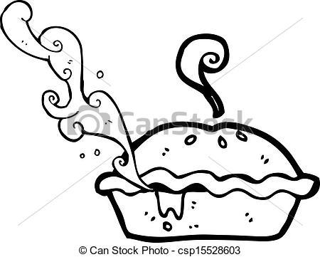 Drawn pie Csp15528603 Art pie of meat