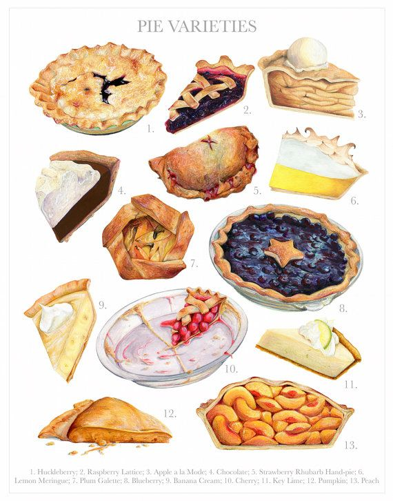Drawn pie watercolor Food Archival Food Quality on