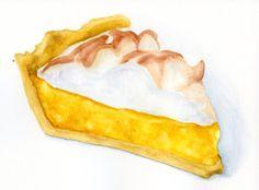 Drawn pie watercolor Die via ORIGINAL Illustration Cuts