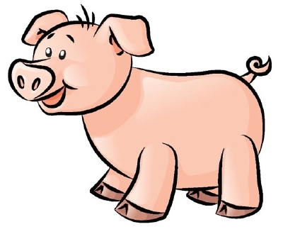 Drawn pig Draw using easy to to
