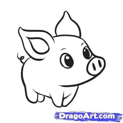 Drawn pig On ideas Best Pig