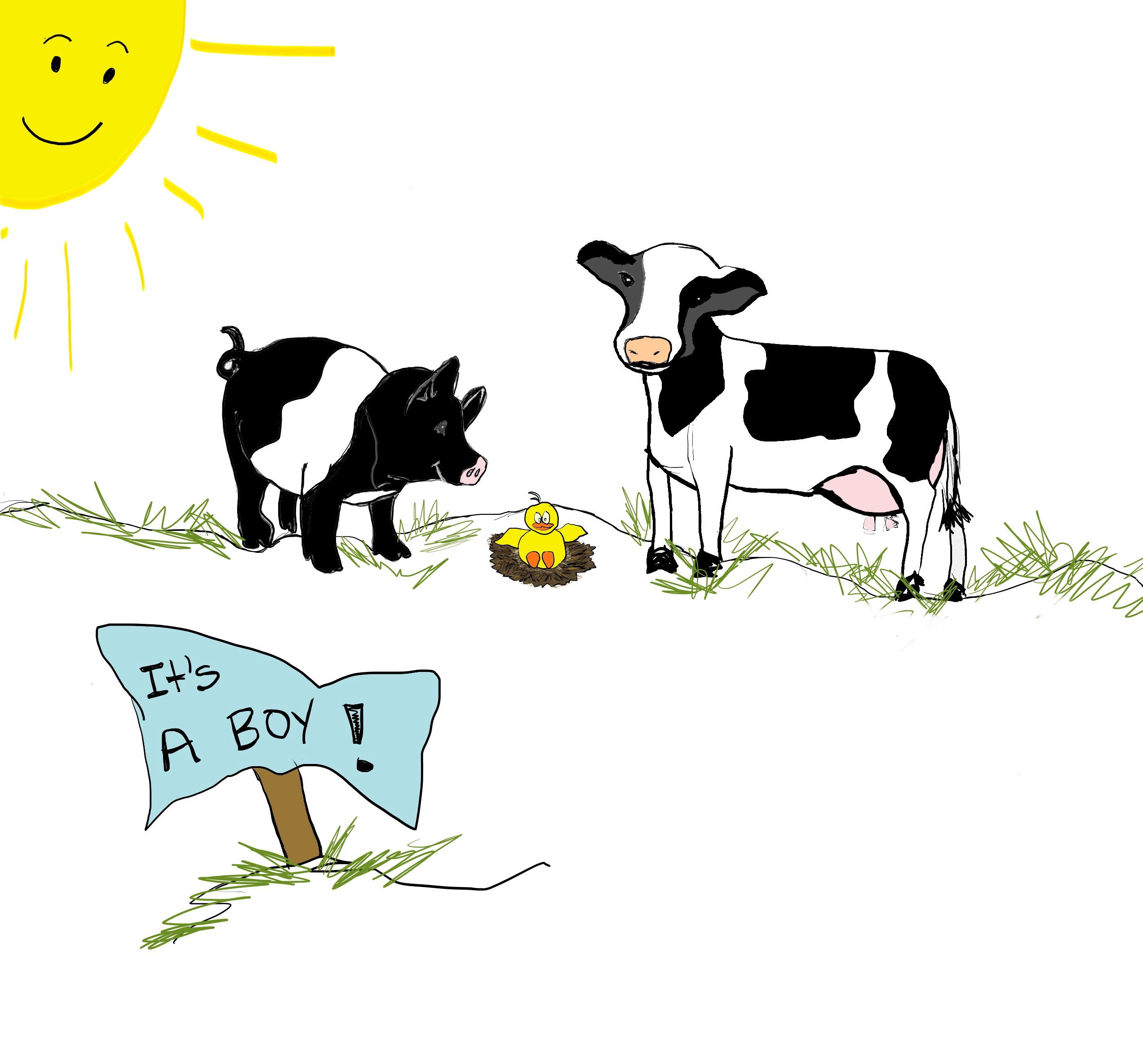 Drawn pig Drawn Cow I Love Boy! and cynthiabrast