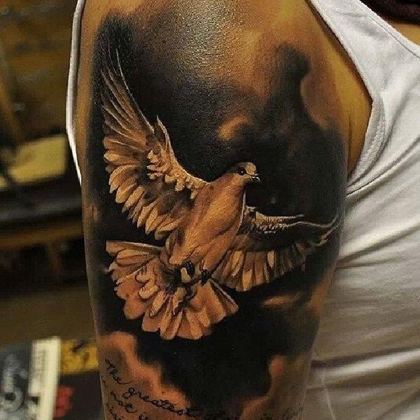 Drawn pigeon religious Faith tattoo Express religious Designs