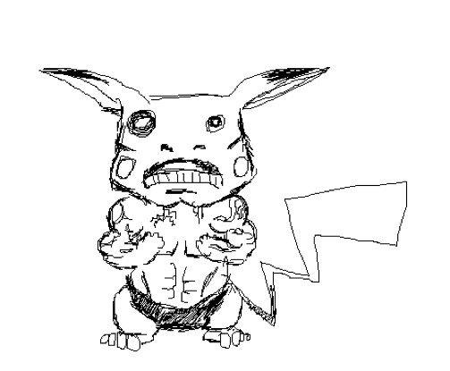 Drawn pikachu Badly  Pikachu Drawn