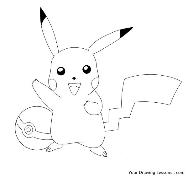 Drawn pikachu Drawing Drawing Pickachu To Lessons