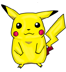 Pikachu clipart cartoon Characters Drawing : How Draw