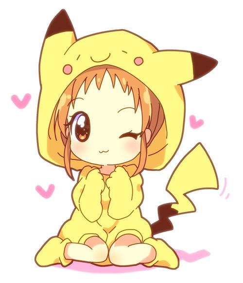 Drawn pikachu anime Girls dolls Anime Pinterest Girl!!
