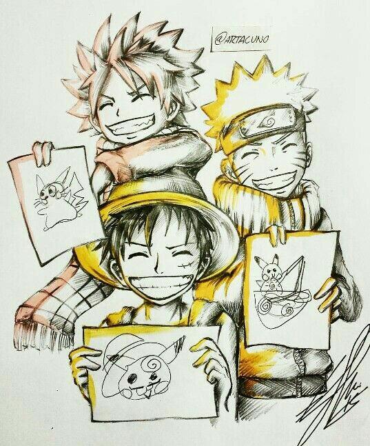 Drawn pikachu anime Natsu Anime drawings funny