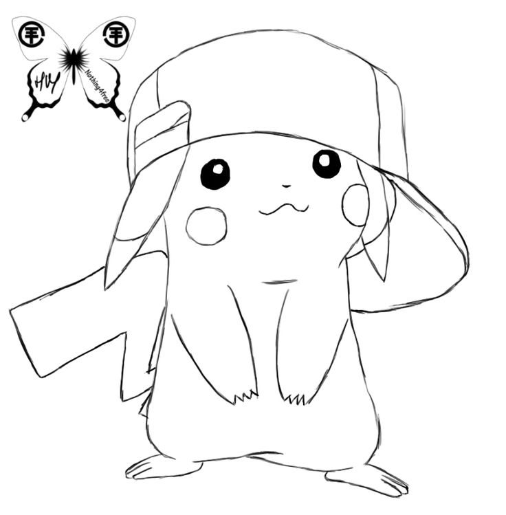 Drawn pikachu black and white Images pikachu cute ~Nothing4Free by