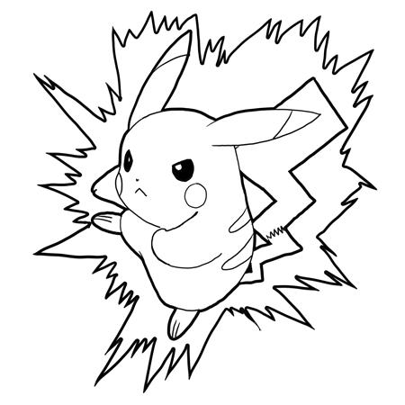 Drawn painting pikachu Step Attacking Pikachu Draw Step