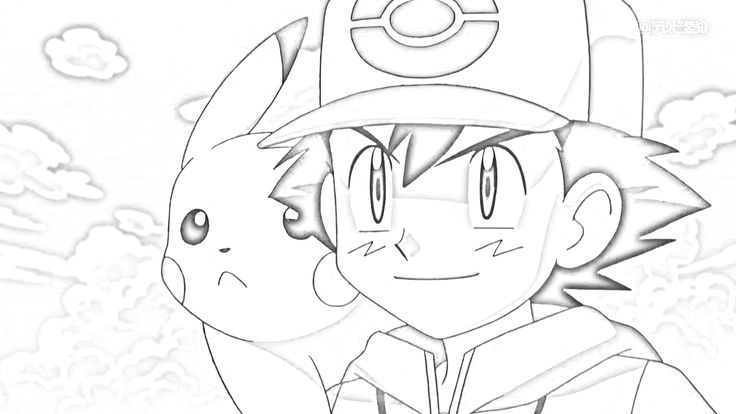 Drawn pikachu black and white Art in and Ash white