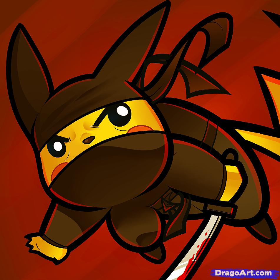 Pikachu clipart graffiti Step Pokemon pikachu Draw ninja