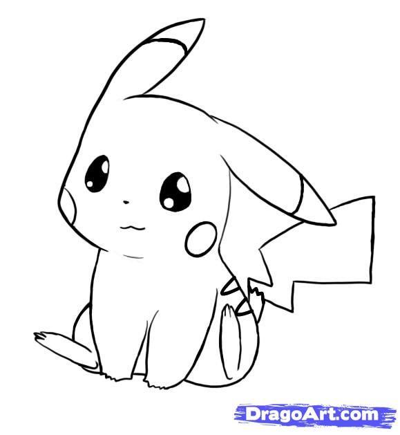 Drawn pikachu dragon How 7 step to draw