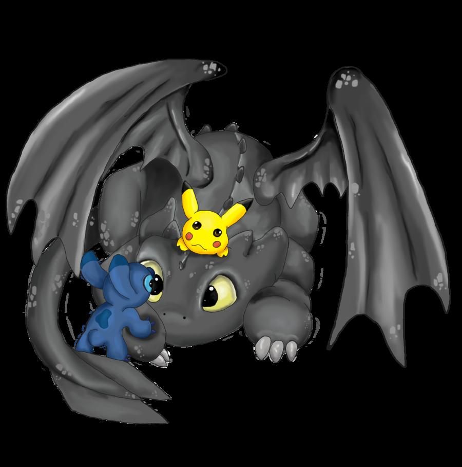 Drawn pikachu dragon Toothless deviantart  mdbruin and