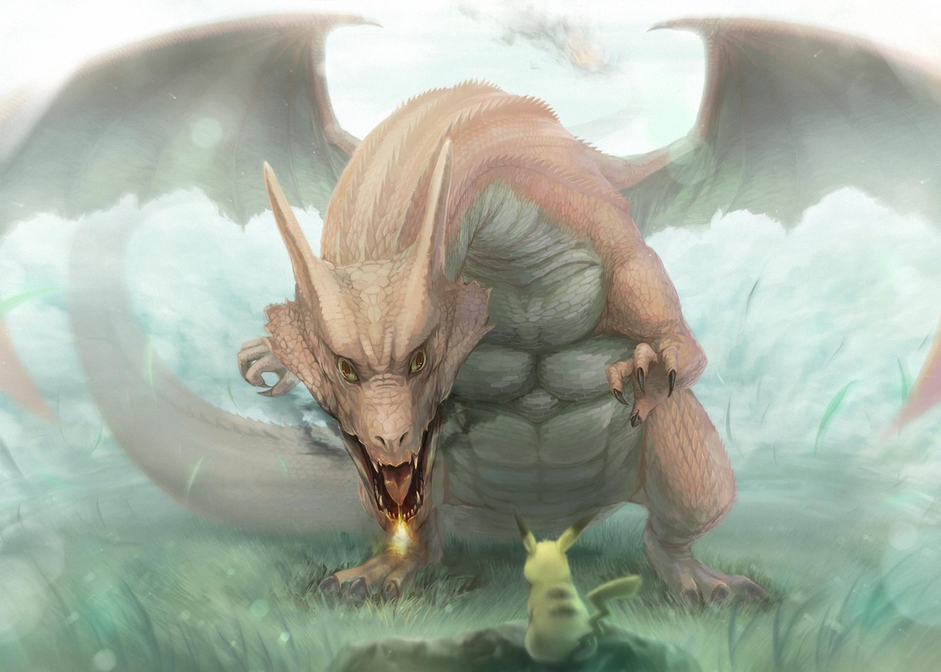 Drawn pikachu dragon Pokemon Pikachu Dragon Dragon Drawing