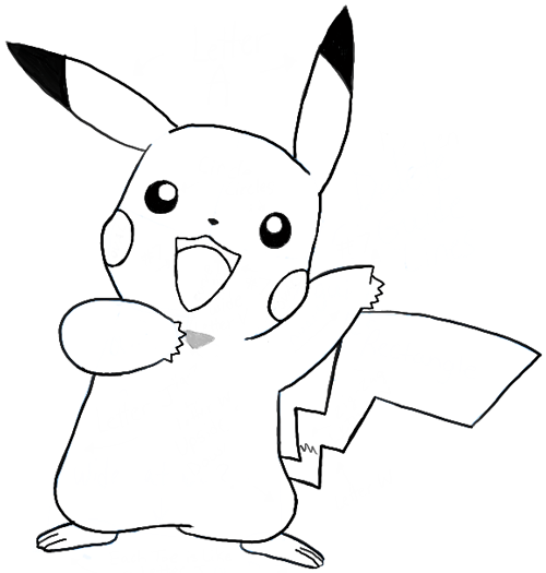 Drawn pikachu easy Of Step Full Draw jpg