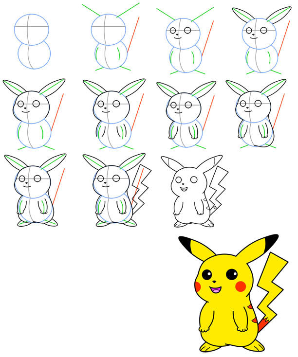 Drawn pikachu easy To to Sculpt Tutorial Drawing