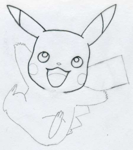 Drawn pikachu easy Curves You help outlines have