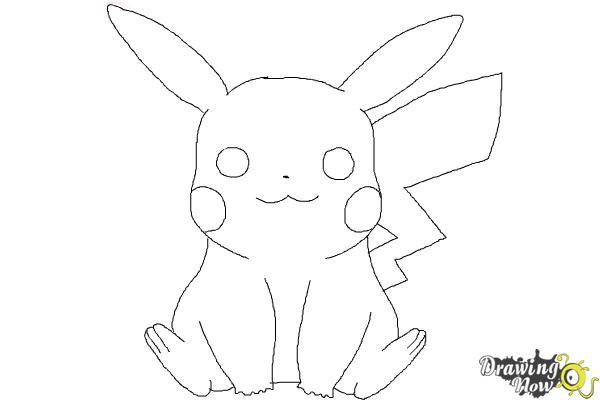 Drawn pikachu easy Pages Step 9 Draw lightofunity