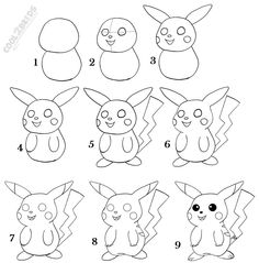 Drawn pikachu easy To draw draw Activities Outside
