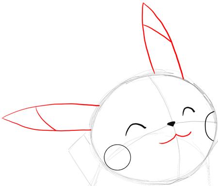 Drawn pikachu easy Draw Pikachu Pikachu's Tutorial Drawing