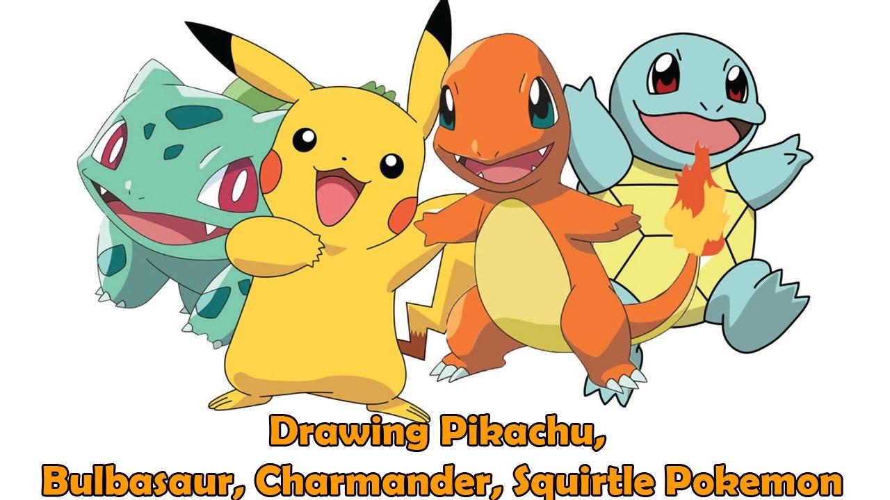 Pikachu clipart charmander Bulbasaur Easy Charmander Easy kids