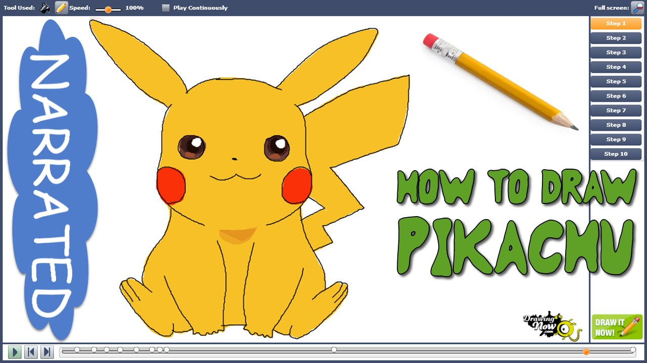Drawn pikachu esay (NARRATED) Easy from How DrawingNow?