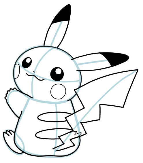 Drawn pikachu face To Step by Squirtle Pikachu