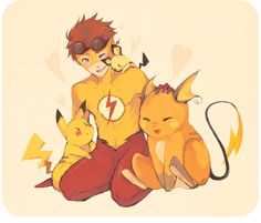 Drawn pikachu flash Picolo Pichu and this •