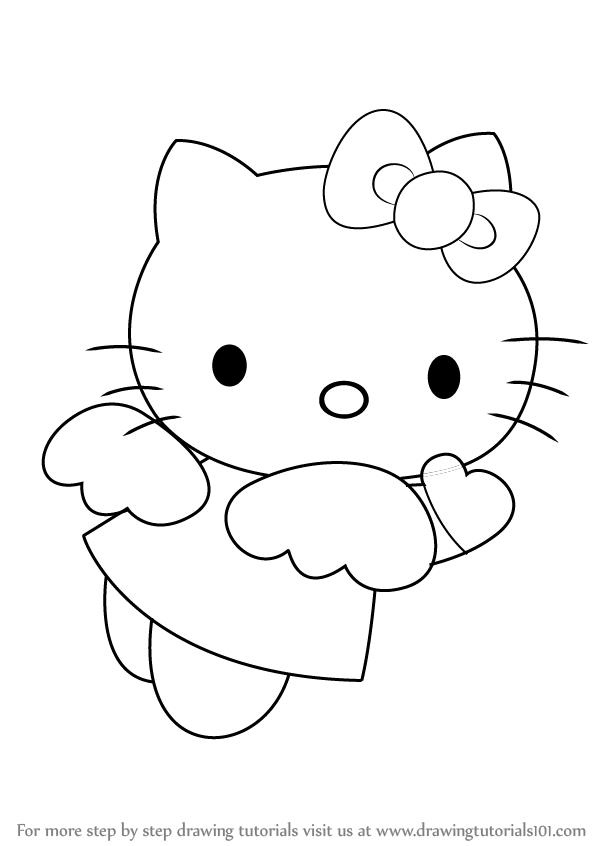 Drawn amd hello kitty : Step Hello draw Angel