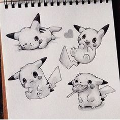 Drawn pikachu hello And Pokemon  grafika pikachu