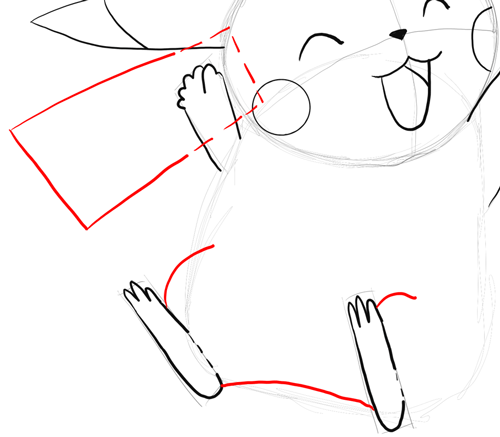 Drawn pikachu hello With Steps Tutorial Ash Pikachu