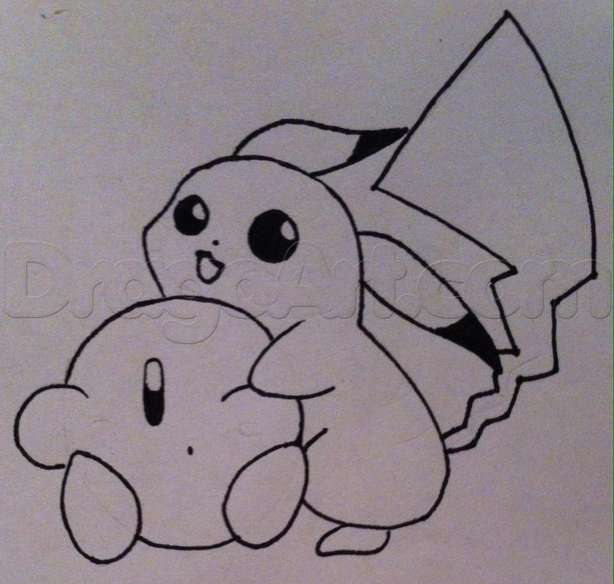 Drawn pikachu kirby  Step Characters step to