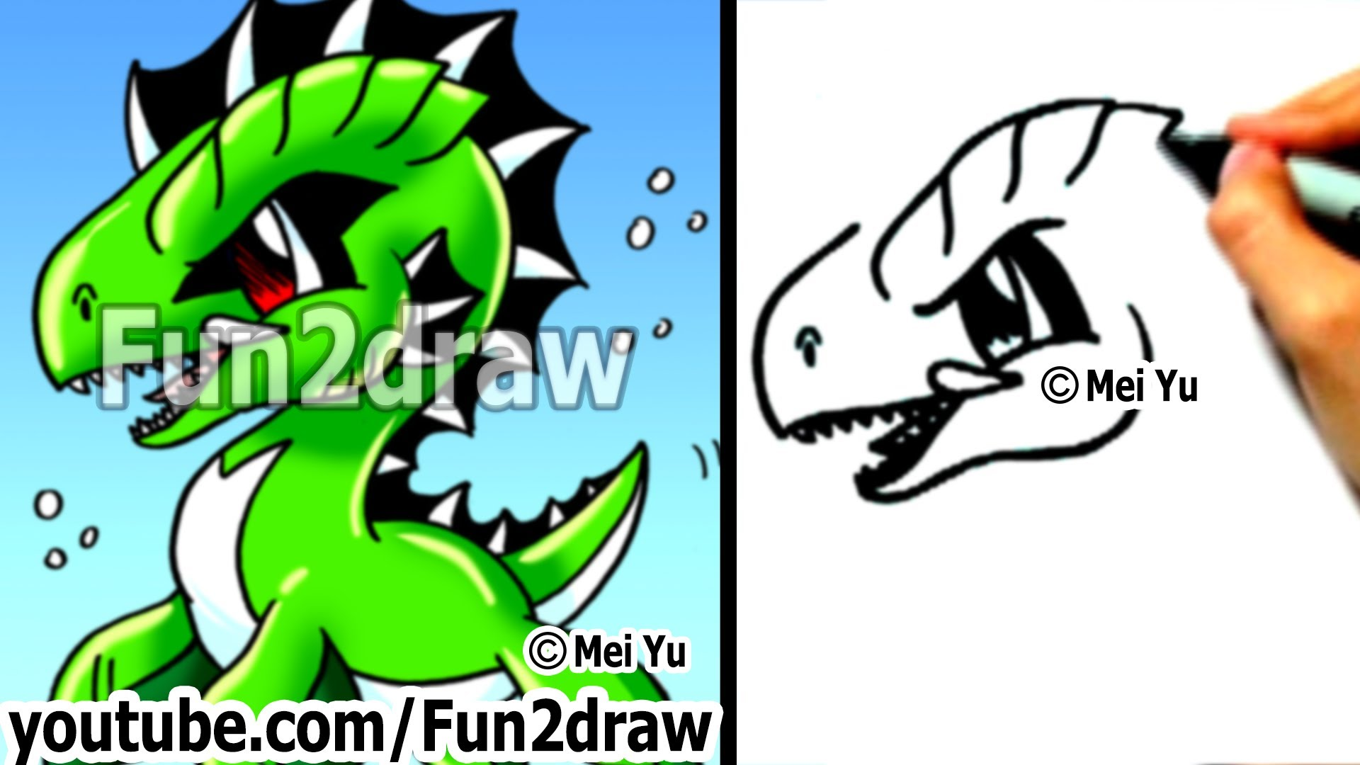 Sea Monster clipart orange Draw Draw Sea Cartoon Easy