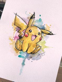 Drawn painting pikachu #bulbasaur las a atentos #pikachu