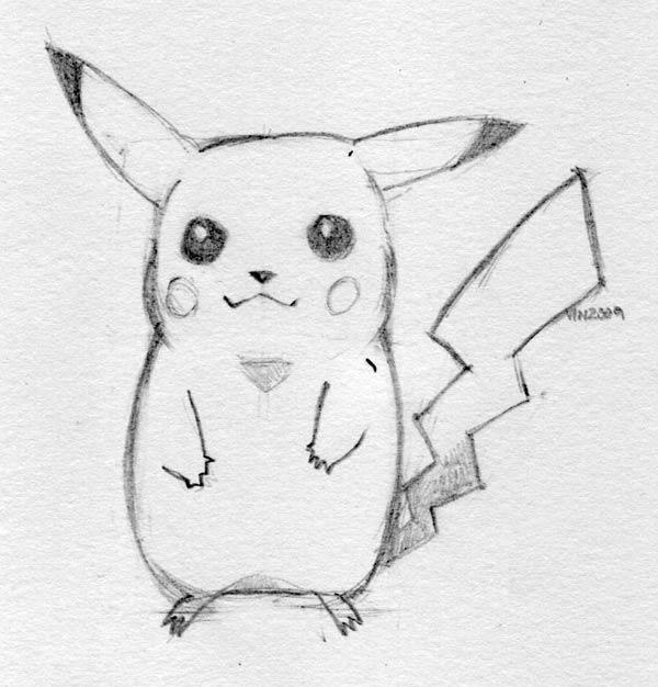 Drawn painting pikachu How pokemon draw How pokemon