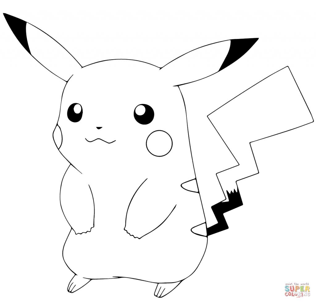 Drawn pikachu picachu For Coloring Coloring Pokmon Free