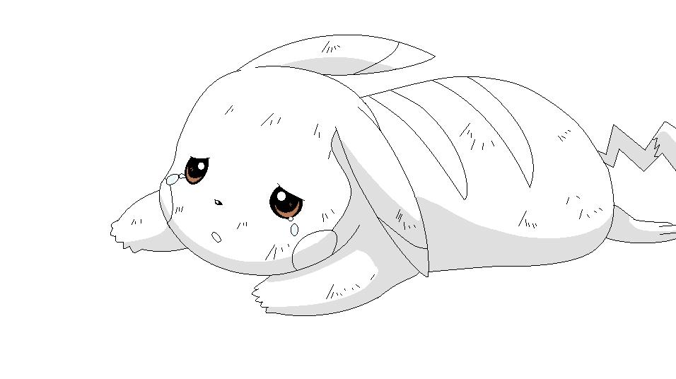 Drawn pikachu sad Pikachu Base images 6 Sad