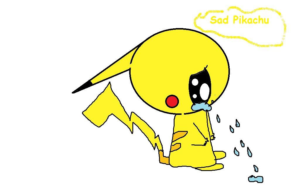 Drawn pikachu sad Pikachu drawing Drawing photo#9 Sad
