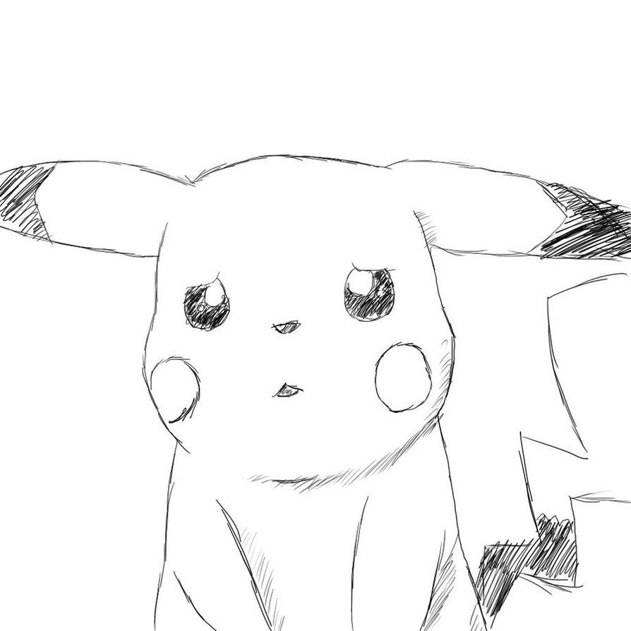 Drawn pikachu sad By sketch Savra by DeviantArt